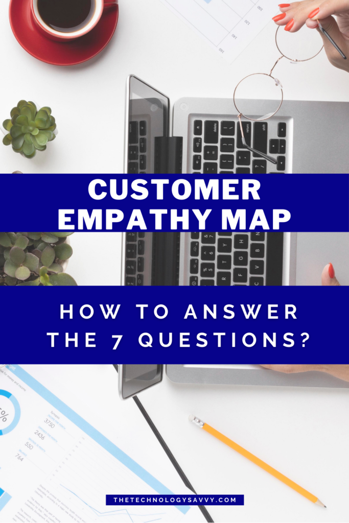 Pinterest The Technology Savvy Customer Empathy Map. How to answer the 7 questions.