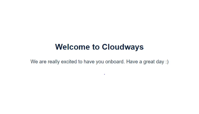 CloudWays Welcome