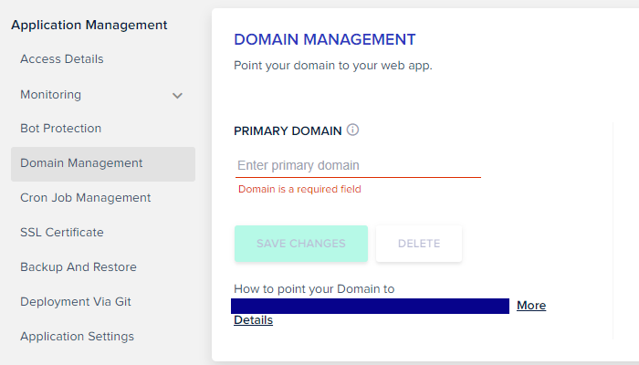 Cloudways-domain-management