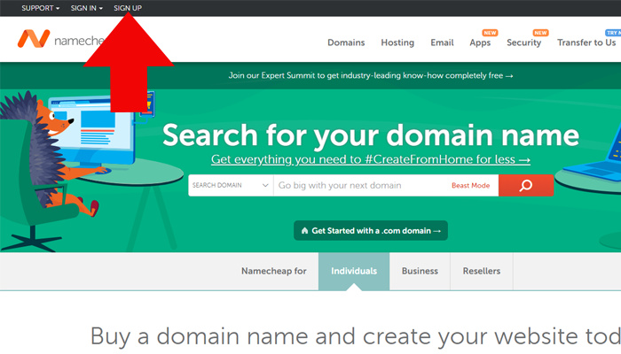 sign-up-namecheap