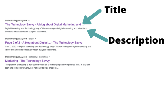The Technology Savvy Title and Meta description