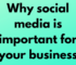 Why social media is important for your business
