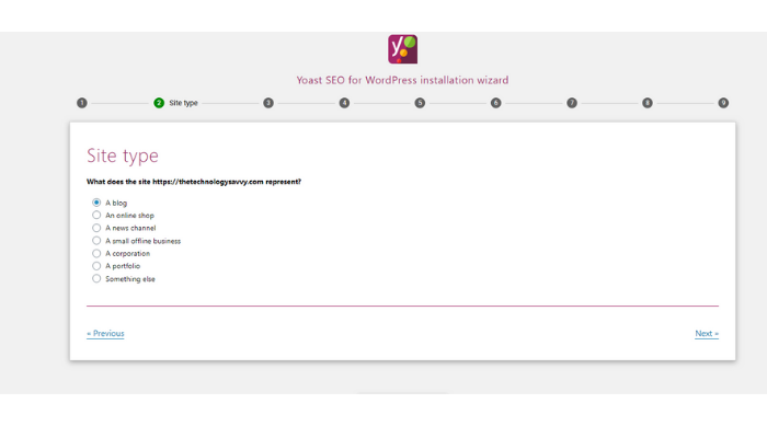 the technology savvy yoast configuration site type