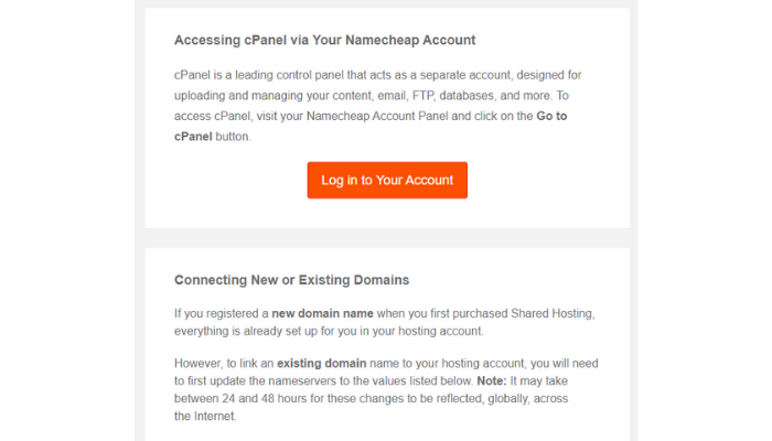 the technology savvy access the namecheap cPanel