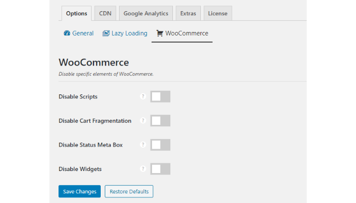 the technology savvy perfmatters woocommerce options