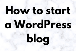 the technology savvy how to start a wordpress blog