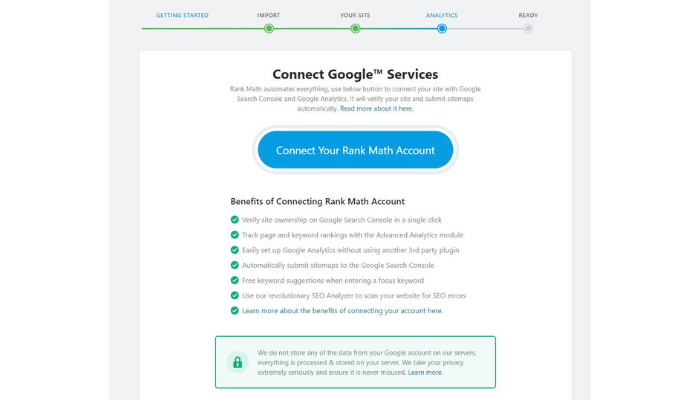 the technology savvy rank math google connect