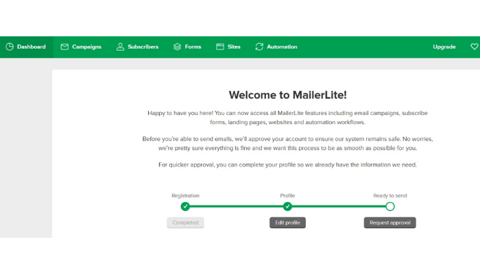 the technology savvy mailelite request approval